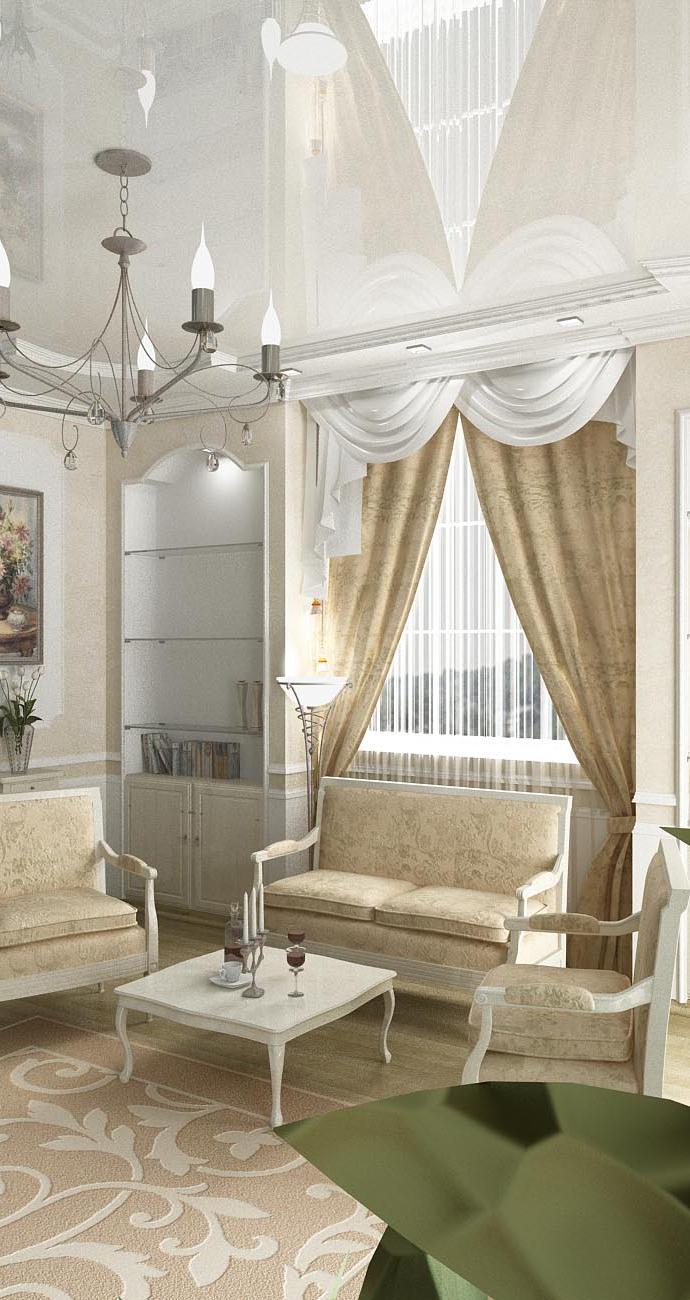 Дом в с. Лески (Одесса). Гостиная