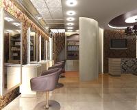 Дизайн интерьера рабочего зала салона красоты