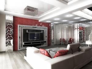 Дизайн гостиной комнаты от Анны Слюсаренко