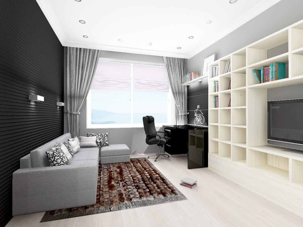 Дизайн 3-х комнатной квартиры 72 кв.м фото